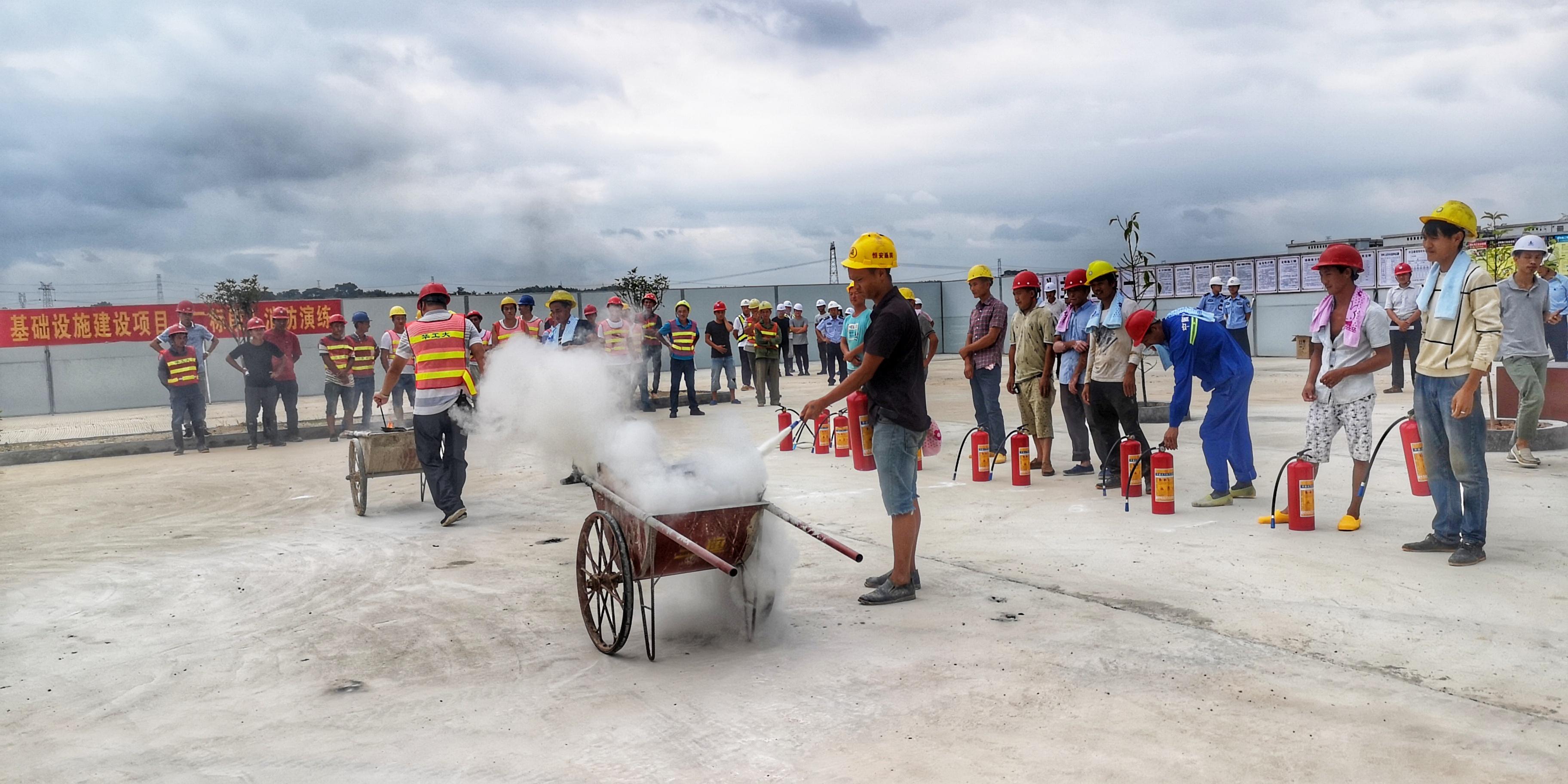 """监狱""""十二五""""基础设施建设项目组织开展消防演练"""